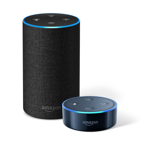 Echo (2nd Generation) – Charcoal Fabric + Echo Dot